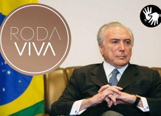 Michel Temer no Roda Viva. Foto: Divulgação