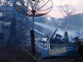 Ultraleve caiu em Ivinhema neste domingo. Foto: Ivi Notícias/Reprodução