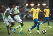 Brasil e Nigéria ficam no 1 a 1. Foto: Pedro Martins/MoWA Press