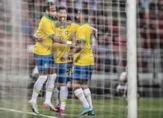Brasil e Senagal empatam em 1 a 1. Foto: Pedro Martins/MoWA Press