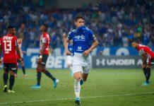 Thiago Neves comemora gol diante do São Paulo. Foto: Vinnicius Silva/Cruzeiro