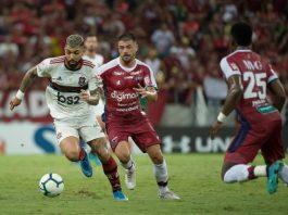 Flamengo vence o Fortaleza de virada. Foto: Alexandre Vidal/Flamengo