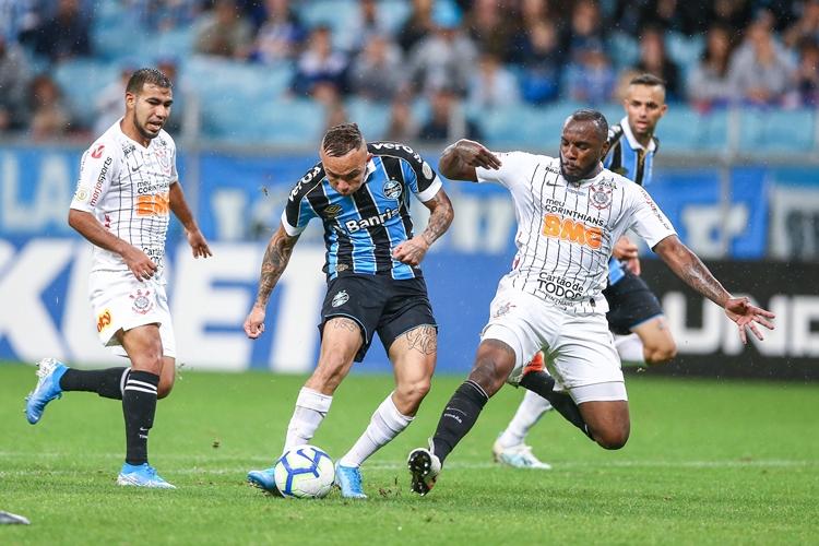 Grêmio e Corinthians ficaram no empate. Foto: Lucas Uebel/Grêmio