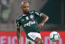 Felipe Melo fez o gol do Palmeiras. Foto: Cesar Greco/Agência Palmeiras