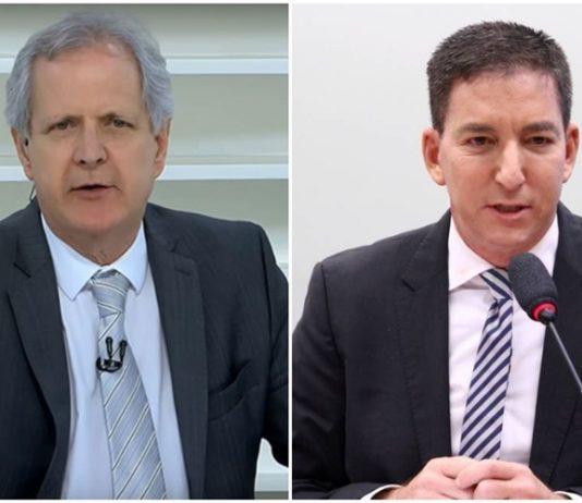 Augusto Nunes e Glenn Greenwald. Foto: Reprodução