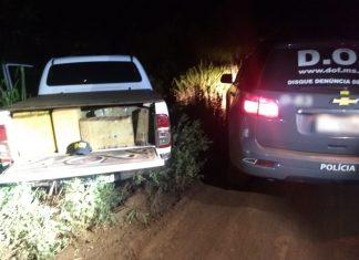 Veículo carregado com a droga no momento em que foi localizado pelo DOF. Foto: Divulgação