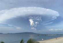 Vulcão nas Filipinas. Foto: Reprodução