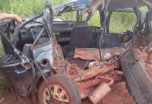Uno envolvido no acidente. Foto: Jornal da Nova/Reprodução