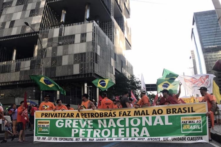 Greve nacional dos petroleiros. Foto: FUP/Divulgação