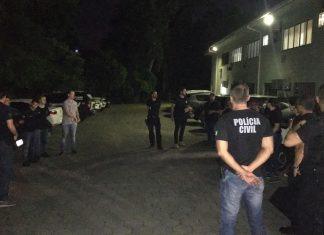 Polícia Civil cumpre mandado de busca e apreensão em Santa Catarina. Foto: Polícia Civil/Divulgação