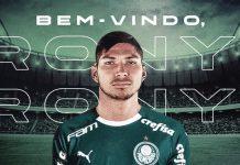 Atacante Rony fecha com o Palmeiras. Foto: Divulgação