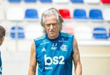 Jorge Jesus. Foto: Alexandre Vidal/Flamengo