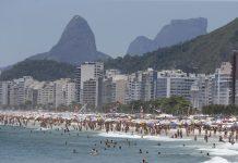 Cariocas e turistas lotam praias do Rio de Janeiro. Foto: Tomaz Silva/Agência Brasil