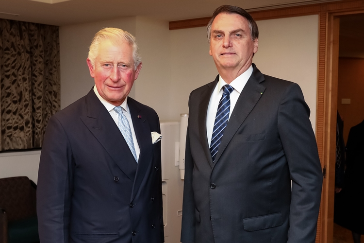 Príncipe Charles e Jair Bolsonaro. Foto: José Dias/PR