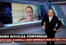 Datena entrevista Carla Zambelli. Foto: Reprodução