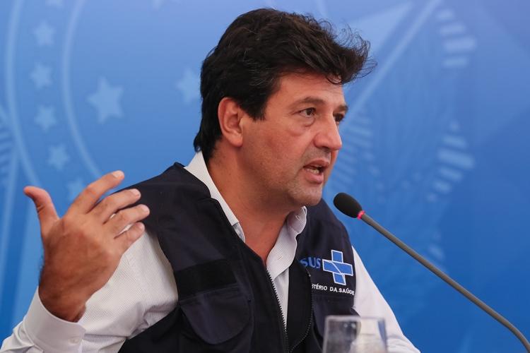 Ministro da Saúde, Luiz Henrique Mandetta. Foto: Isac Nóbrega/PR