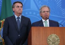 Jair Bolsonaro e Paulo Guedes. Foto: Marcos Corrêa/PR