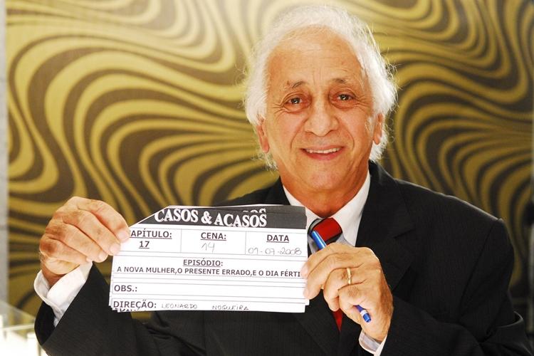 Flavio Migliaccio em cena de 'Casos & Acasos' (2008). Foto: Kiko Cabral/Globo/Reprodução