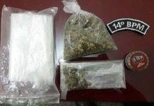Polícia Militar flagra jovens com droga em Glória de Dourados (MS). Foto: Reprodução
