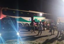 Ônibus saiu de Mato Grosso do Sul. Foto: GCM de Pedra Branca/Divulgação