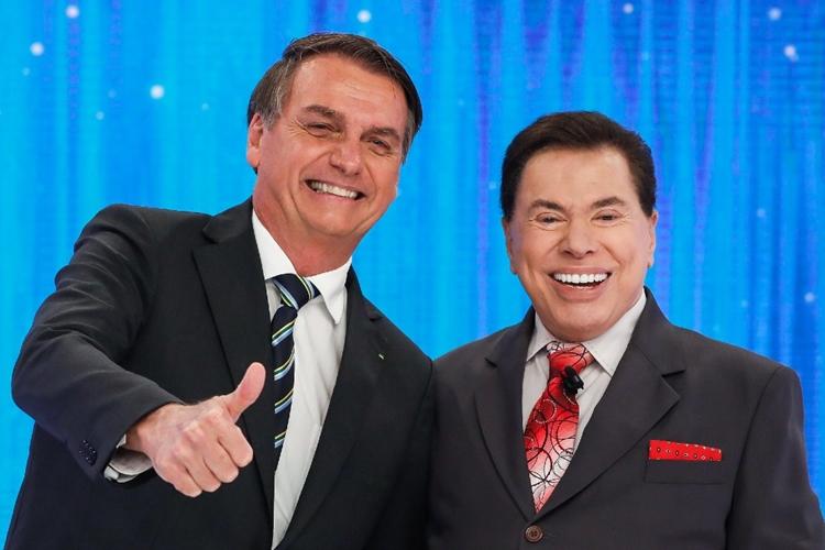 Jair Bolsonaro e Silvio Santos. Foto: Alan Santos/PR