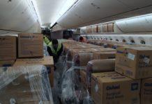 Megaoperação envolve 44 voos para trazer ao país 240 milhões de máscaras. Foto: GRU Airport/Divulgação