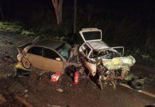 Acidente deixa duas pessoas mortas. Foto: Sidnei Bronka/Ligado na Notícia/Reprodução