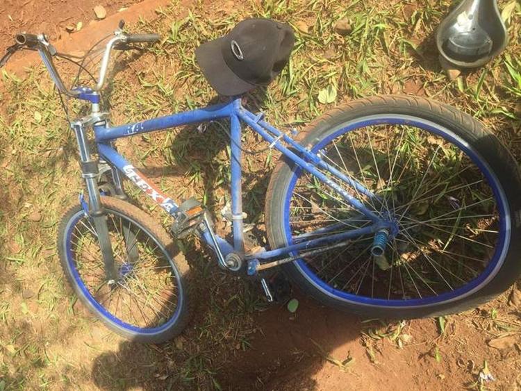 Adolescente estava indo de bicicleta ao trabalho. Foto: Osvaldo Duarte/Dourados News/Reprodução
