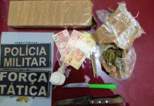 Droga apreendida em Glória de Dourados. Foto: Reprodução