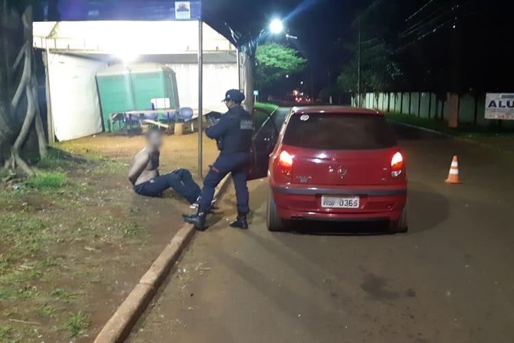 Guarda Municipal prende suspeito de matar secretário em Dourados. Foto: Reprodução