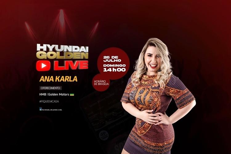 Ana Karla faz primeira live neste domingo (26). Foto: Divulgação