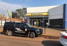 Bandidos roubam Banco do Brasil em Nova Alvorada do Sul (MS). Foto: Gustavo Garcia/Alvorada Informa/Reprodução