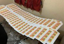 Dinheiro falso foi apreendido em laboratório de Três Coroas. Foto: Divulgação