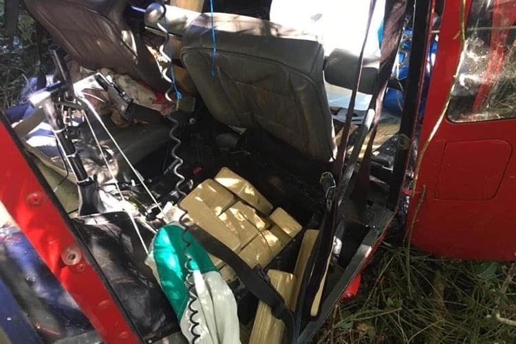 Drogas encontradas dentro do helicóptero que caiu em Ibiúna. Foto: Reprodução