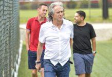 Jorge Jesus. Foto: Marcelo Cortes/Flamengo