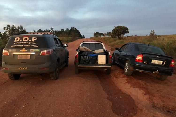 Veículo com mais de 300 quilos de maconha é apreendido pelo DOF. Foto: Divulgação