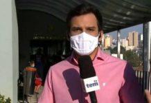 Mulher invade reportagem da TV Globo. Foto: Reprodução