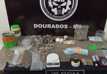 Polícia cumpre mandados contra o tráfico em Dourados (MS). Foto: Sidnei Bronka/Ligado na Notícia/Reprodução