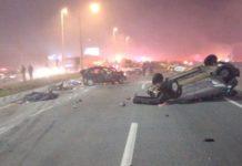 Oito pessoas morreram no acidente, na BR-277. Foto: Reprodução/Twitter