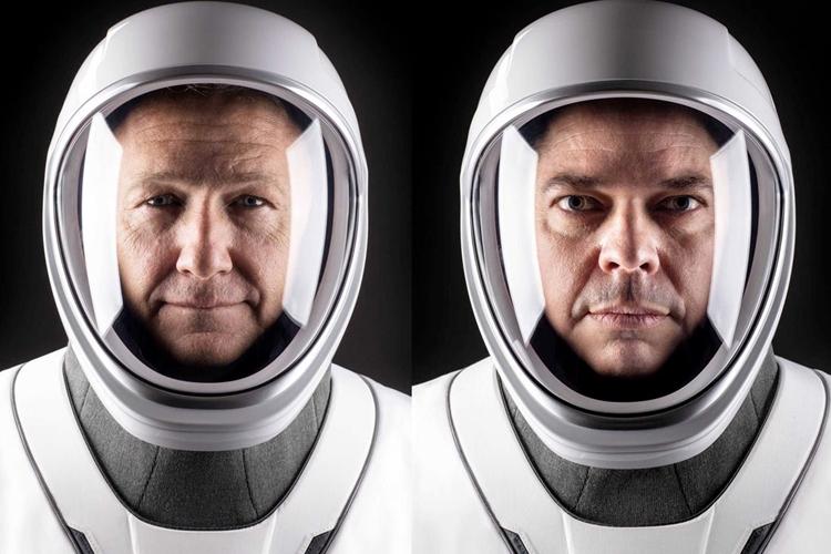 Doug Hurley e Bob Behnken. Foto: SpaceX