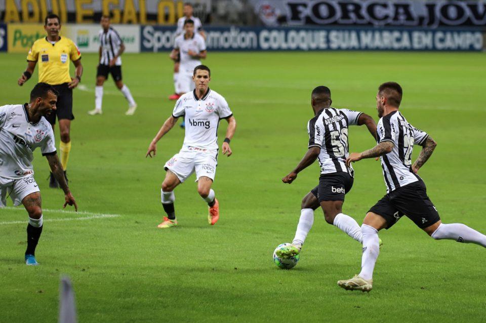Atlético-MG vence o Corinthians pelo Brasileirão 2020. Foto: Pedro Souza/Agência Galo