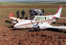 Aeronave fez pouso forçado e estava lotada de cocaína. Foto: FAB/Divulgação