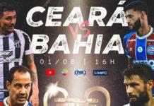 Ceará x Bahia, pela Copa do Nordeste. Foto: Divulgação