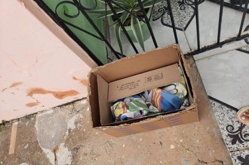 Bebê foi deixado em uma caixa de papelão como esta. Foto: Ilustrativa