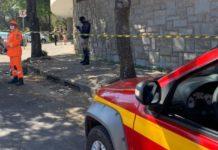Criança de 9 anos caiu do 4º andar de prédio, em BH. Foto: Corpo de Bombeiros/Divulgação