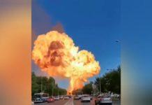 Explosão na Rússia: incidente em posto de combustíveis causa feridos. Foto: Reprodução