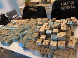 Dinheiro apreendido na casa de suspeito na Operação Postal Off 2. Foto: Reprodução