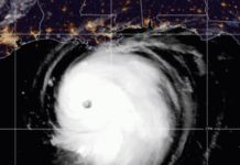 Furacão Laura. Foto: National Hurricane Center/Reprodução