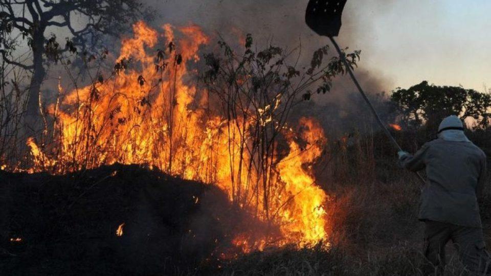 Incêndios avançam sobre o Pantanal. Foto: Valter Campanato/Agência Brasil