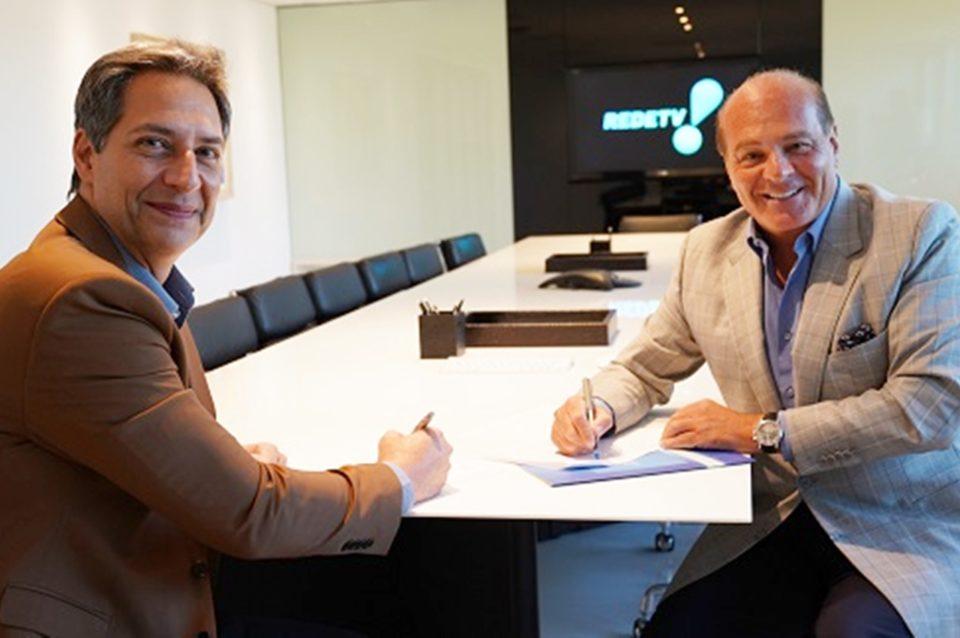 Luís Ernesto Lacombe e Marcelo de Carvalho. Foto: RedeTV!